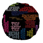 Panic At The Disco Northern Downpour Lyrics Metrolyrics Large 18  Premium Flano Round Cushions Back