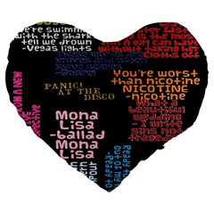 Panic At The Disco Northern Downpour Lyrics Metrolyrics Large 19  Premium Flano Heart Shape Cushions