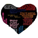 Panic At The Disco Northern Downpour Lyrics Metrolyrics Large 19  Premium Flano Heart Shape Cushions Back