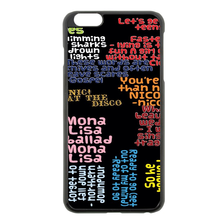 Panic At The Disco Northern Downpour Lyrics Metrolyrics Apple iPhone 6 Plus/6S Plus Black Enamel Case