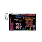 Panic At The Disco Northern Downpour Lyrics Metrolyrics Canvas Cosmetic Bag (S) Front