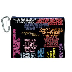 Panic At The Disco Northern Downpour Lyrics Metrolyrics Canvas Cosmetic Bag (xl)