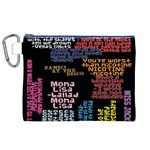 Panic At The Disco Northern Downpour Lyrics Metrolyrics Canvas Cosmetic Bag (XL) Front