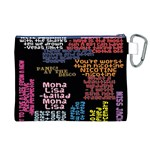 Panic At The Disco Northern Downpour Lyrics Metrolyrics Canvas Cosmetic Bag (XL) Back
