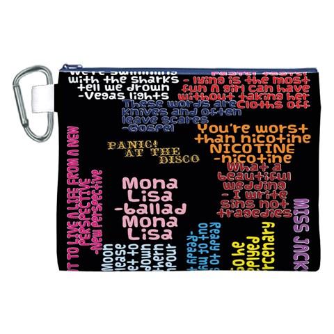 Panic At The Disco Northern Downpour Lyrics Metrolyrics Canvas Cosmetic Bag (XXL)