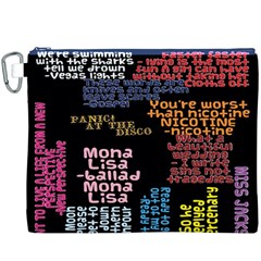Panic At The Disco Northern Downpour Lyrics Metrolyrics Canvas Cosmetic Bag (xxxl)