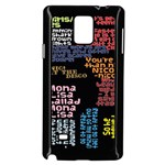 Panic At The Disco Northern Downpour Lyrics Metrolyrics Samsung Galaxy Note 4 Case (Black) Front