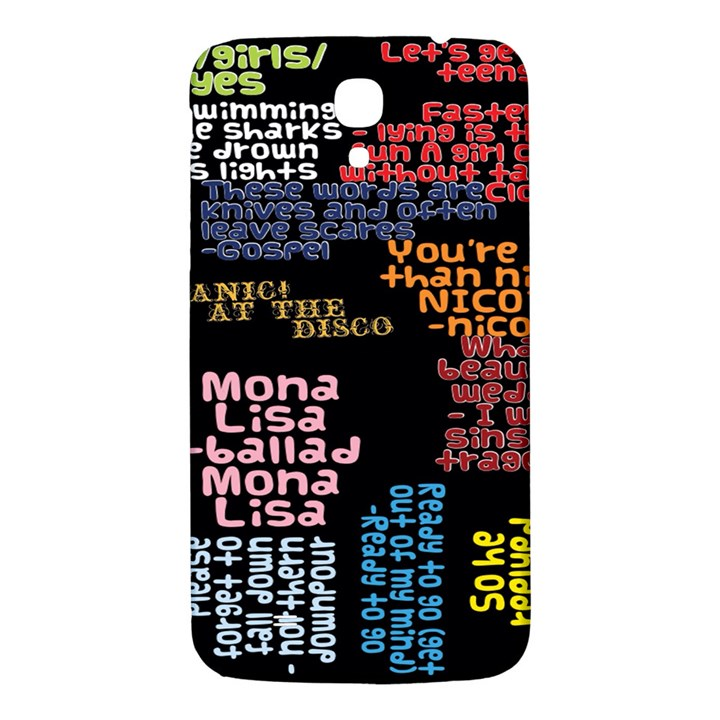 Panic At The Disco Northern Downpour Lyrics Metrolyrics Samsung Galaxy Mega I9200 Hardshell Back Case