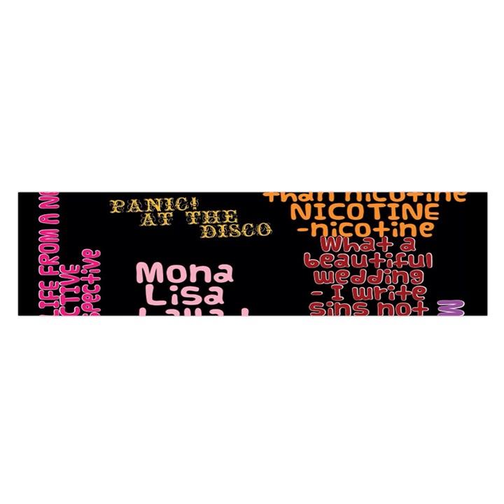 Panic At The Disco Northern Downpour Lyrics Metrolyrics Satin Scarf (Oblong)