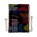 Panic At The Disco Northern Downpour Lyrics Metrolyrics Drawstring Bag (Small) Front