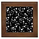 Black And White Starry Pattern Framed Tiles Front