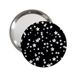 Black And White Starry Pattern 2.25  Handbag Mirrors Front