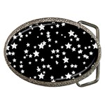 Black And White Starry Pattern Belt Buckles Front