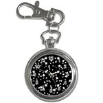 Black And White Starry Pattern Key Chain Watches Front