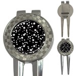 Black And White Starry Pattern 3-in-1 Golf Divots Front