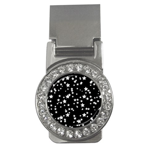Black And White Starry Pattern Money Clips (CZ)