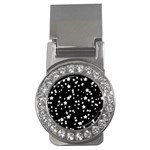 Black And White Starry Pattern Money Clips (CZ)  Front