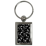 Black And White Starry Pattern Key Chains (Rectangle)  Front