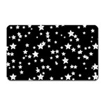 Black And White Starry Pattern Magnet (Rectangular) Front