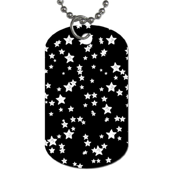 Black And White Starry Pattern Dog Tag (One Side)