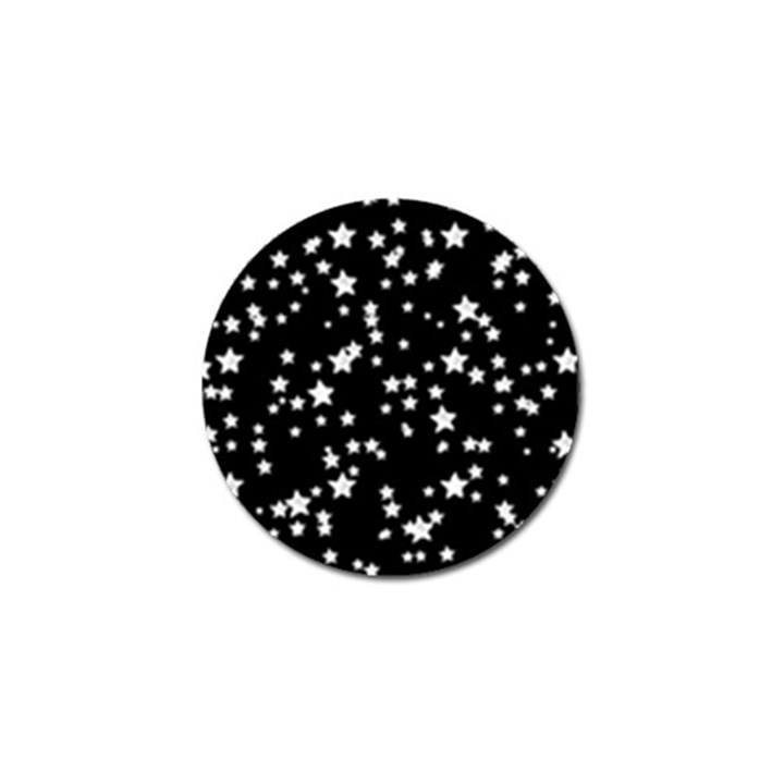 Black And White Starry Pattern Golf Ball Marker