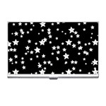 Black And White Starry Pattern Business Card Holders Front
