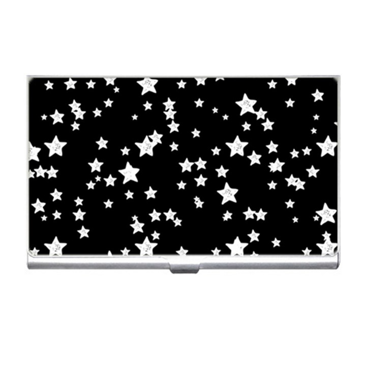 Black And White Starry Pattern Business Card Holders
