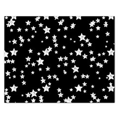 Black And White Starry Pattern Rectangular Jigsaw Puzzl