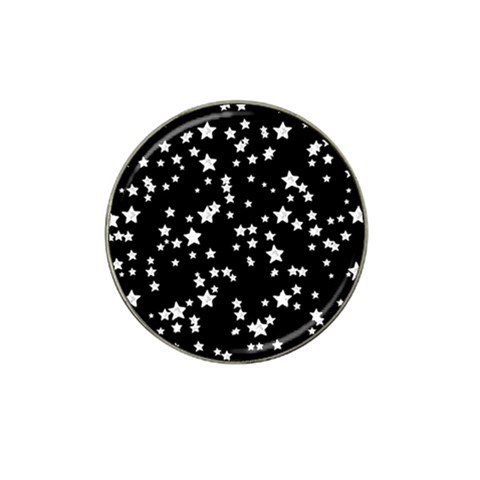 Black And White Starry Pattern Hat Clip Ball Marker