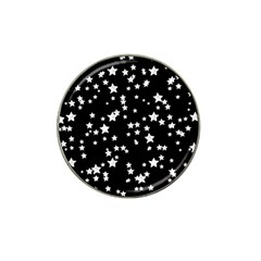 Black And White Starry Pattern Hat Clip Ball Marker (4 pack)