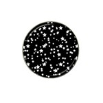Black And White Starry Pattern Hat Clip Ball Marker (4 pack) Front