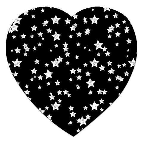 Black And White Starry Pattern Jigsaw Puzzle (Heart)