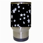 Black And White Starry Pattern Travel Mugs (White) Center