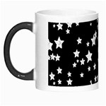Black And White Starry Pattern Morph Mugs Left