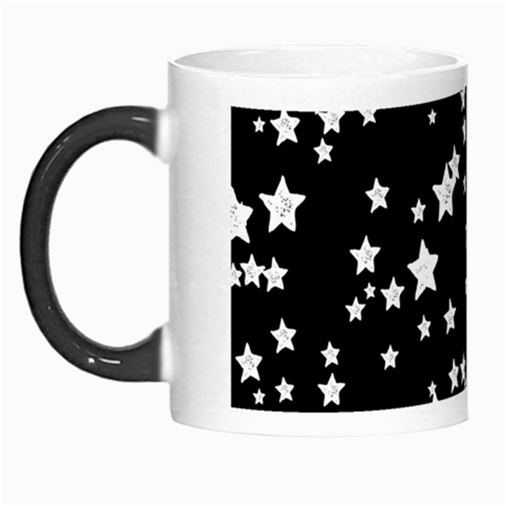 Black And White Starry Pattern Morph Mugs
