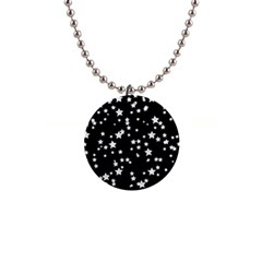 Black And White Starry Pattern Button Necklaces