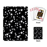 Black And White Starry Pattern Playing Card Back