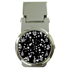 Black And White Starry Pattern Money Clip Watches