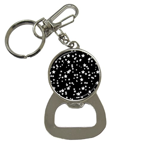 Black And White Starry Pattern Bottle Opener Key Chains