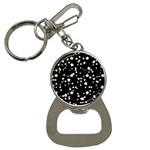 Black And White Starry Pattern Bottle Opener Key Chains Front