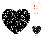Black And White Starry Pattern Playing Cards (Heart)  Front