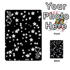 Black And White Starry Pattern Playing Cards 54 Designs