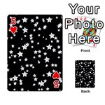 Black And White Starry Pattern Playing Cards 54 Designs  Front - Heart5
