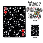 Black And White Starry Pattern Playing Cards 54 Designs  Front - Heart8