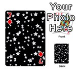 Black And White Starry Pattern Playing Cards 54 Designs  Front - Diamond7