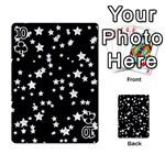 Black And White Starry Pattern Playing Cards 54 Designs  Front - Club10