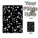 Black And White Starry Pattern Playing Cards 54 Designs  Front - Spade7