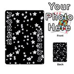 Black And White Starry Pattern Playing Cards 54 Designs  Front - Joker1