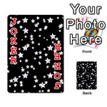 Black And White Starry Pattern Playing Cards 54 Designs  Front - Joker2