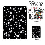Black And White Starry Pattern Playing Cards 54 Designs  Back